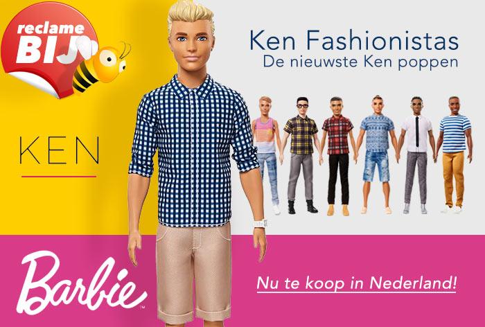 Ken poppen lijn 2017 Fashionistas-pop nummer 7