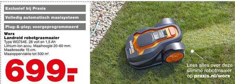 Robot Grasmaaier Folder Aanbieding Praxis Wox kopen