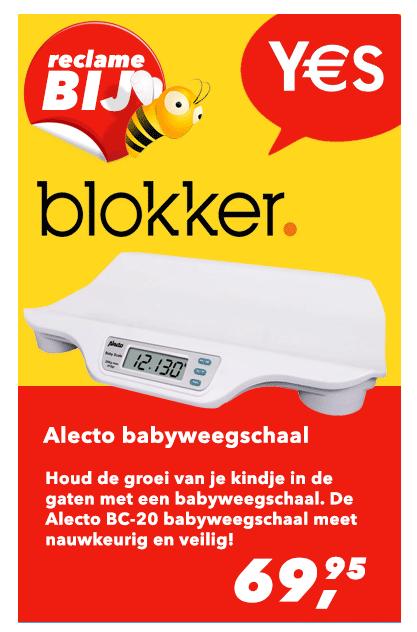 Reclamefolder Aanbieding Babyweegschaal Blokker