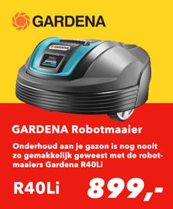 Robotmaaier Folder Bauhaus Aanbiedingen Robot grasmaaier Gardena R40Li