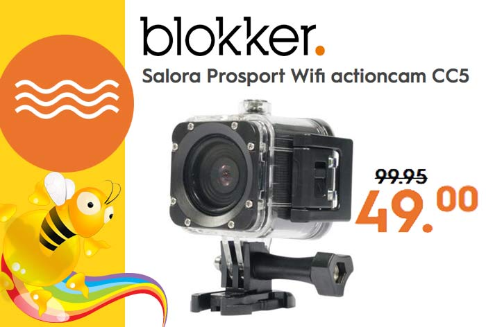 Action Cam Blokker Aanbieding - Salora Prosport Wifi actioncam CC5